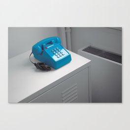 Blue Telephone Canvas Print
