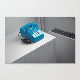 Blue Telephone Canvas Print