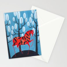 Smug red horse Stationery Cards