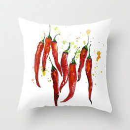 red chili pepper Throw Pillow