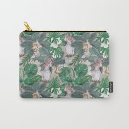 cockatoo birds and ginger, hibiscus flowers Carry-All Pouch