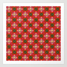 Christmas Garden Pattern Art Print