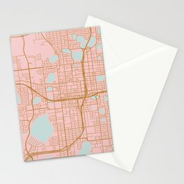 Orlando map, Florida Stationery Cards