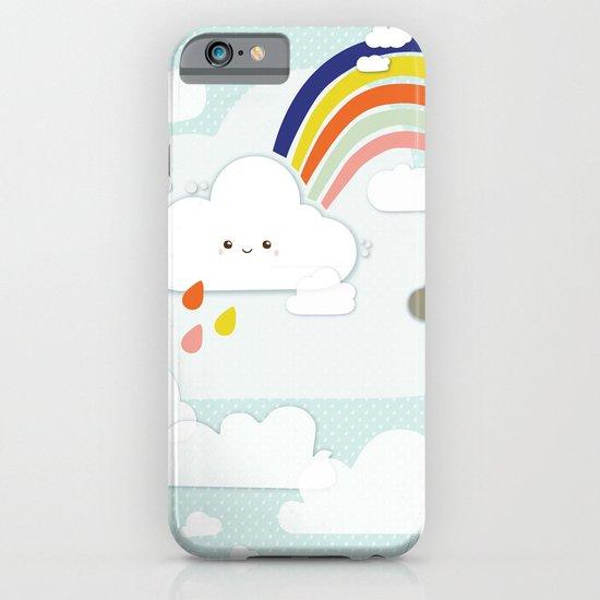 Cute clouds & rainbow iPhone & iPod Case