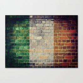 Vintage Ireland flag Canvas Print