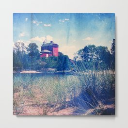 Vintage Great Lakes Lighthouse Metal Print