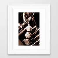 jazz Framed Art Prints featuring Jazz by KunstFabrik_StaticMovement Manu Jobst