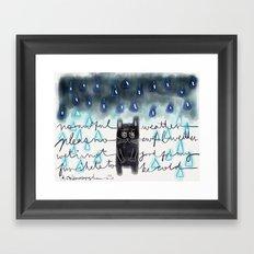 Rain-Not-Friendly Framed Art Print