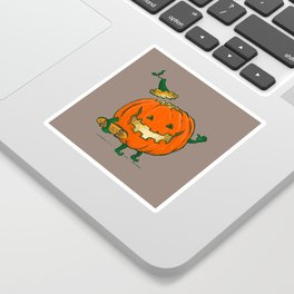 Skatedeck Pumpkin Sticker