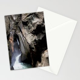 The 200-foot Rock Crevasse of Box Canyon Falls Stationery Cards