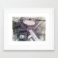 beth hoeckel Framed Art Prints featuring BETH by Evan Hawley