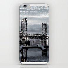 B&W Night Bridge Lights iPhone & iPod Skin