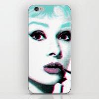 hepburn iPhone & iPod Skins featuring AUDREY HEPBURN by Nuk_
