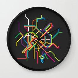 budapest metro map Wall Clock