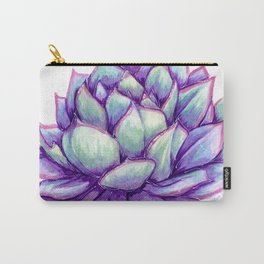 Pink Edge Echeveria Carry-All Pouch