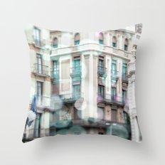 Barceona in pastel colors Throw Pillow