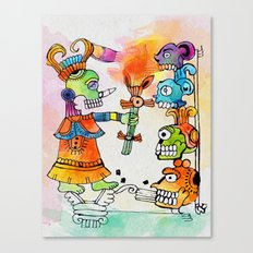 Witchdoctor, inspired by Frida Kahlo Canvas Print