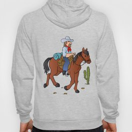 Cowboy on the horse Hoody