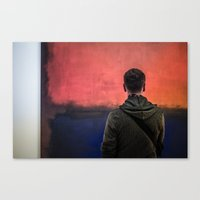 rothko Canvas Prints featuring Watching Rothko by Hipogrifos