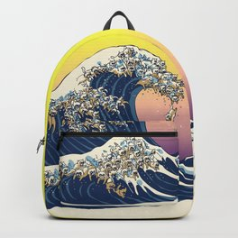 The Great Wave Of  Cat Backpack