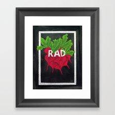 Rad(ish) Framed Art Print