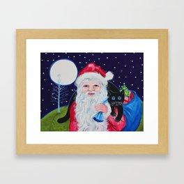 Santa's Helper Framed Art Print