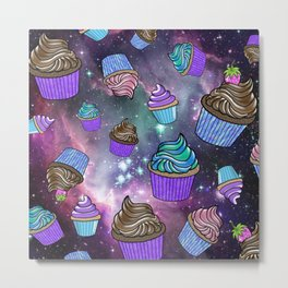 CAKES IN SPACE Metal Print