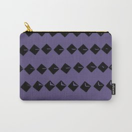 Black Square Rivets on Ultra Violet #1 #decor #art #society6 Carry-All Pouch