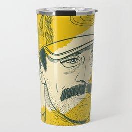 Mustachioed GOAT Travel Mug