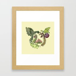 Botanical Pig Framed Art Print