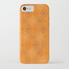 Moroccan silk in orange iPhone Case