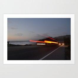 Along the Highway Art Print