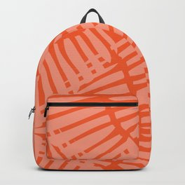 Basketweave-Persimmon Backpack