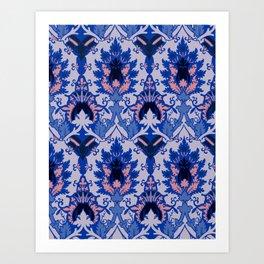Gothic floral Art Print