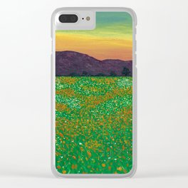 Temecula, California Spring Field of Poppies Clear iPhone Case
