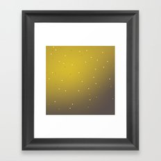 mustard speckles ombre Framed Art Print