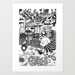 Doughnut City Art Print