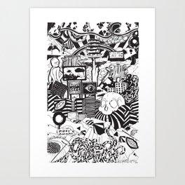 Doughnut City Art Print