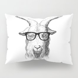 Hipster Goat Pillow Sham
