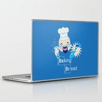 baking Laptop & iPad Skins featuring Baking Bread Kawaii by DarkChoocoolat