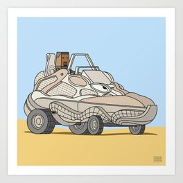Desert Rat Buggy Art Print