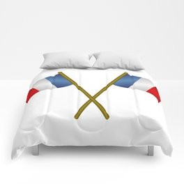 flag of france Comforters
