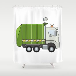 GarbageTruck Shower Curtain