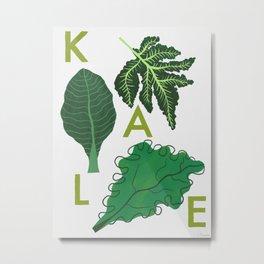 Eat Your Veggies - Kale Metal Print
