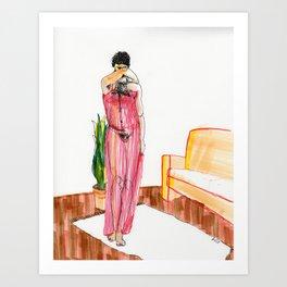 an evening / a chance Art Print