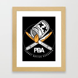 Peanut Butter Assassins Framed Art Print