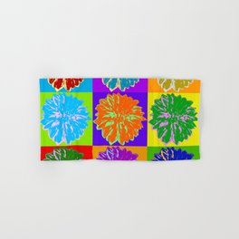Poster with cornflower in pop art style Hand & Bath Towel