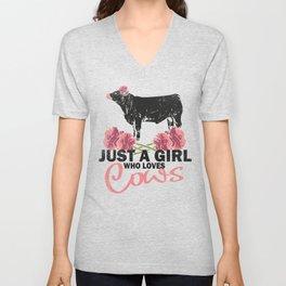 Cow Cattle Heifer Farming Farmers Steers Cow Mom Unisex V-Neck