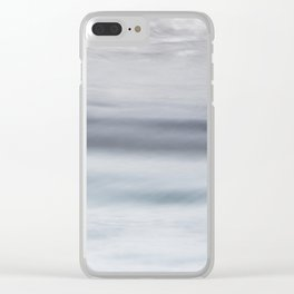 Sea motion, abstract Clear iPhone Case