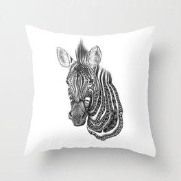 Aztec zebra Throw Pillow
